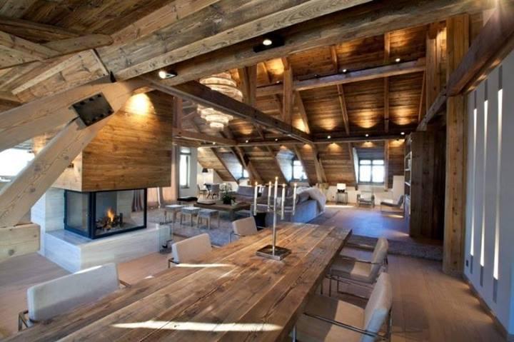 Ispirazioni di cucine soggiorni e altri ambienti interni for Noleggio cabina di lusso in montagna in virginia
