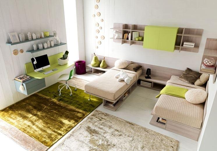 Ispirazioni di cucine soggiorni e altri ambienti interni - Camera per due ragazzi ...