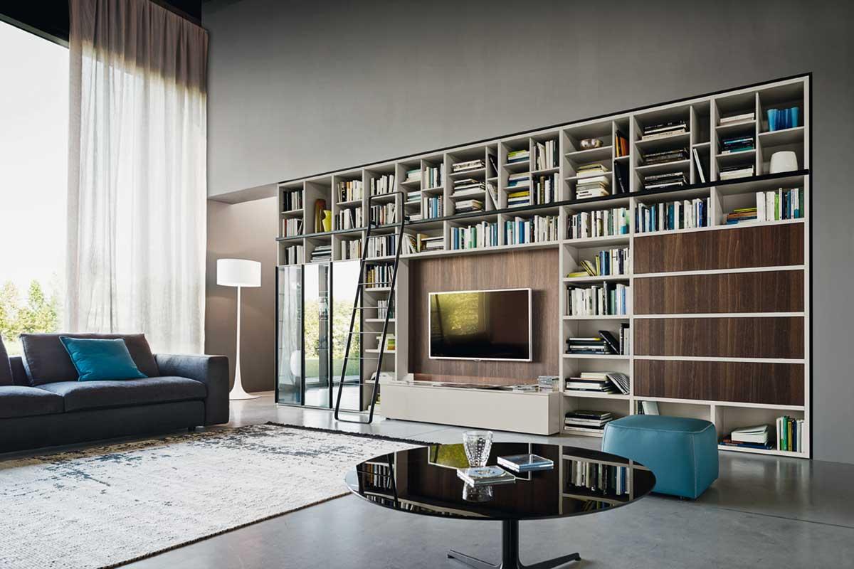 Ispirazioni di cucine soggiorni e altri ambienti interni architettiamo progetti online - Arredamento parete soggiorno ...