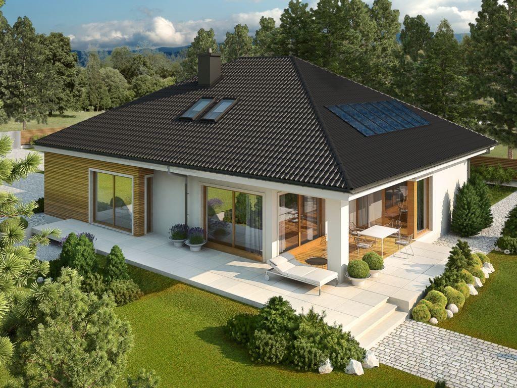 costruire casa con tetto a 4 falde