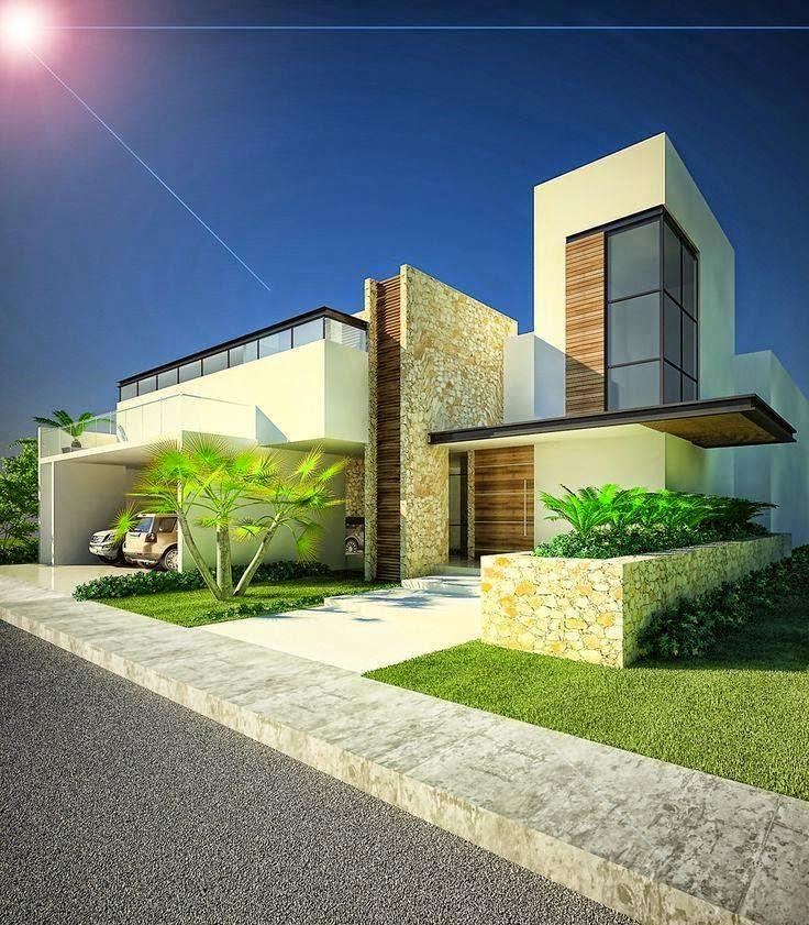 Immagini d 39 ispirazione di ville case e rustici di tutto for Fachadas modernas para casas 2016