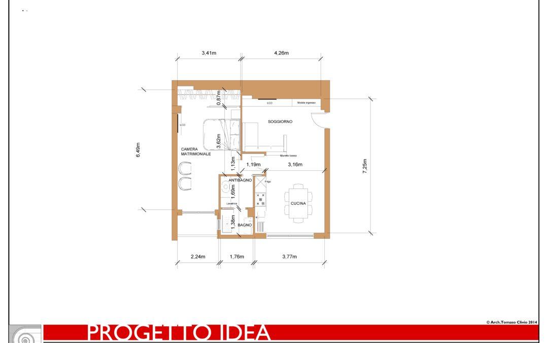 Progettare ambienti in 50 mq