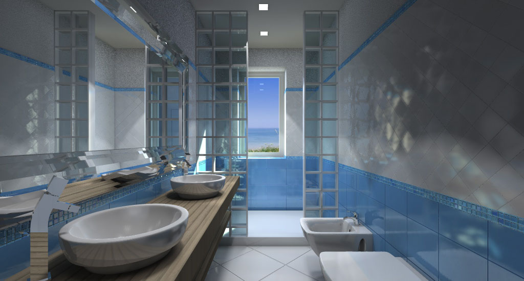 Rendering interni tutti gli esempi di render che architettiamo per voi - Rendering bagno ...