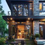 ampie vetrate e ampi terrazzi esempio di case moderne
