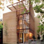 casa moderna completamente rivestita in legno