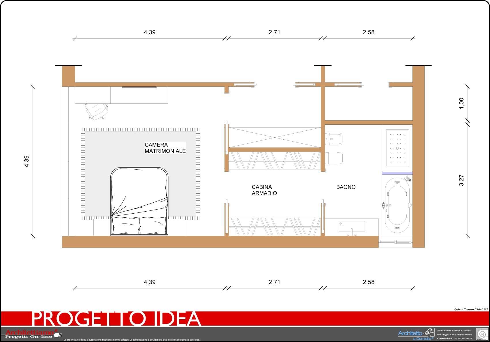 progettazione 3D villa - camera