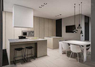 Zona living-cucina moderna