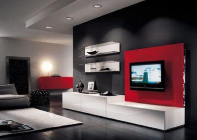 Soggiorni moderni trova l 39 ispirazione per il tuo soggiorno for Parete rossa soggiorno