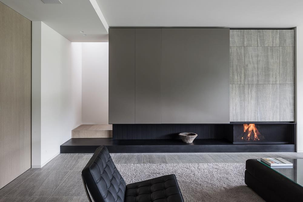 Soggiorni moderni trova l 39 ispirazione per il tuo soggiorno - Parete con camino ...