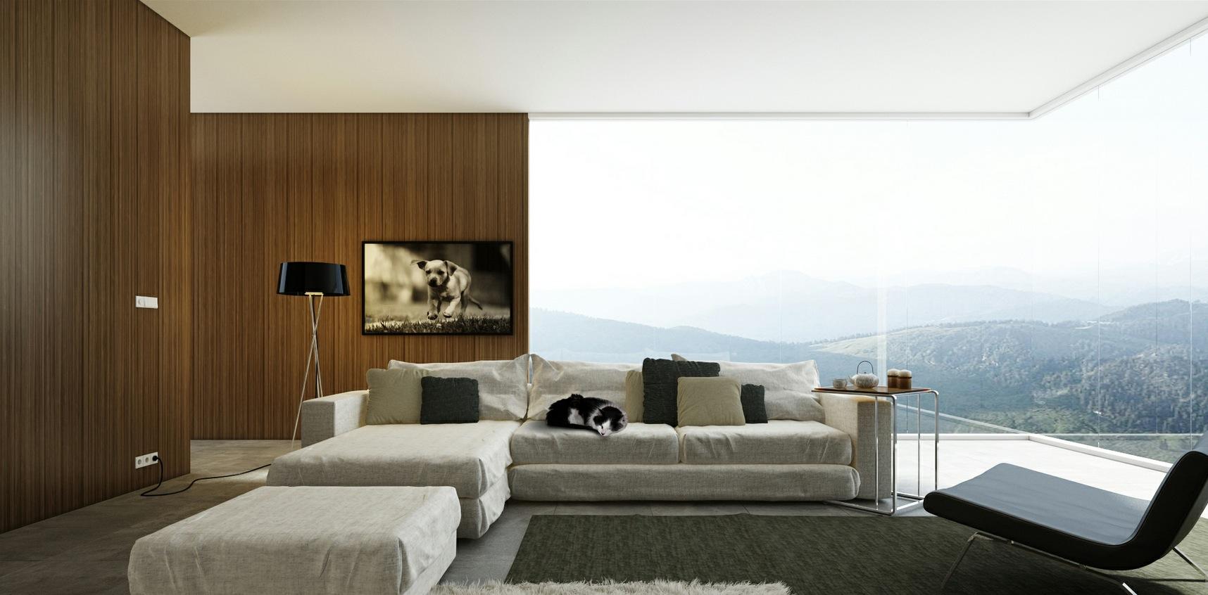 vetrata soggiorno : Soggiorni Moderni - Architettiamo Progetti OnLine