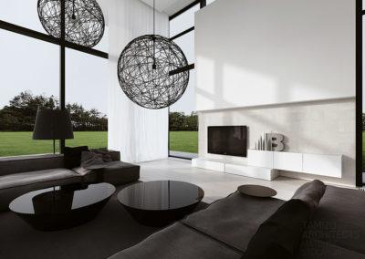 soggiorno con vetrate