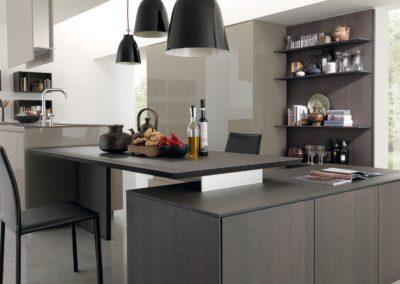 Cucina legno e laccato