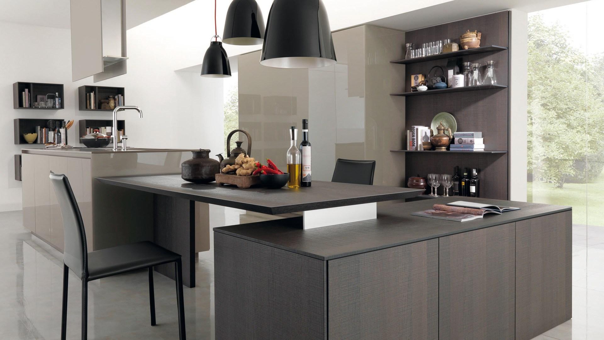 Cucine moderne dai stile e importanza alla tua casa - Cucina nera legno ...