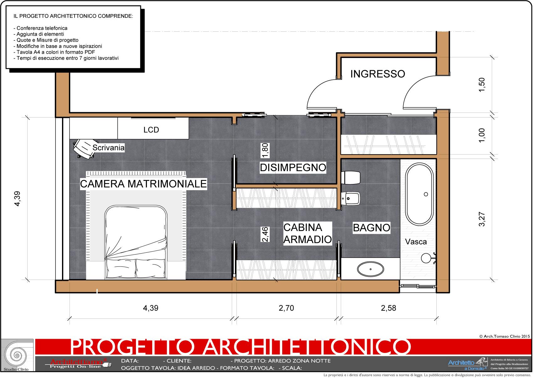 Planimetria Casa Con Misure progetto arredo: una rapida idea di progetto in 7gg a