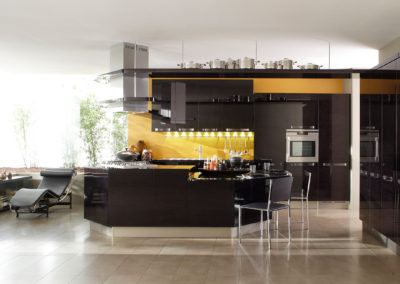 Cucina in bamboo nero