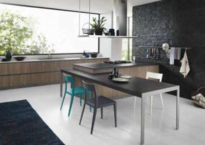 Cucina isola- tavola
