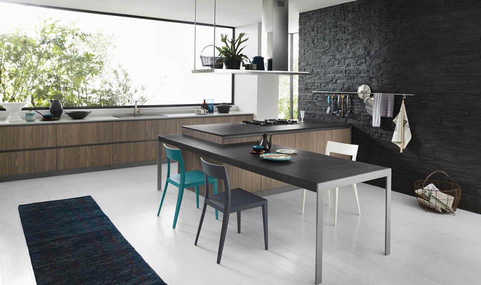Cucine moderne come scegliere quella giusta per te e le - Isola cucina con tavolo ...
