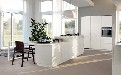 Cucine moderne dai stile e importanza alla tua casa - Isola cucina con tavolo ...