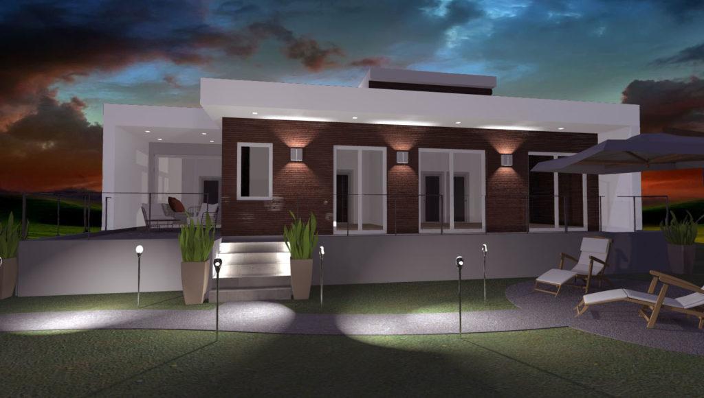 Villa in sardegna esempio di progetto di nuova for Esterno casa moderna