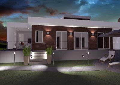 casa moderna al tramonto 2