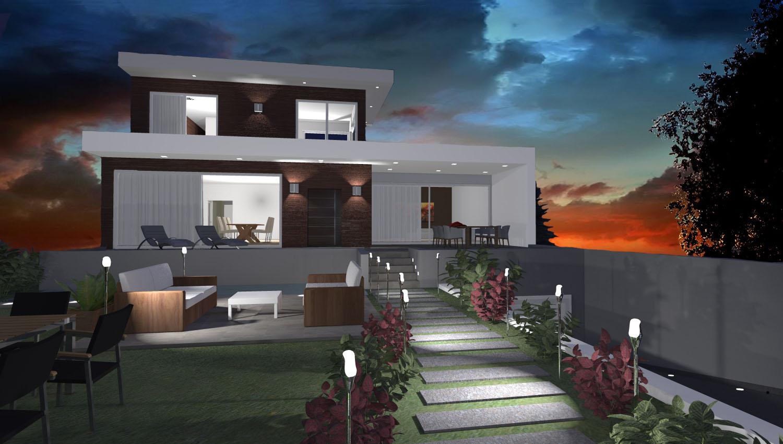 Progetti 3d costruzione esempi di progetti online di for Piani casa moderna collina