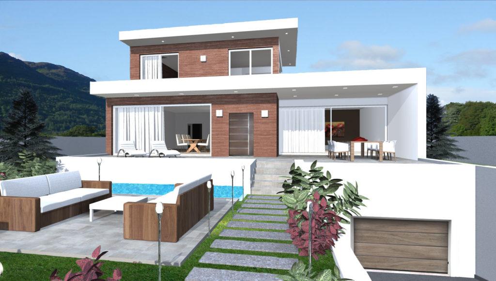 Villa in sardegna esempio di progetto di nuova for Giochi di costruzione di case 3d online