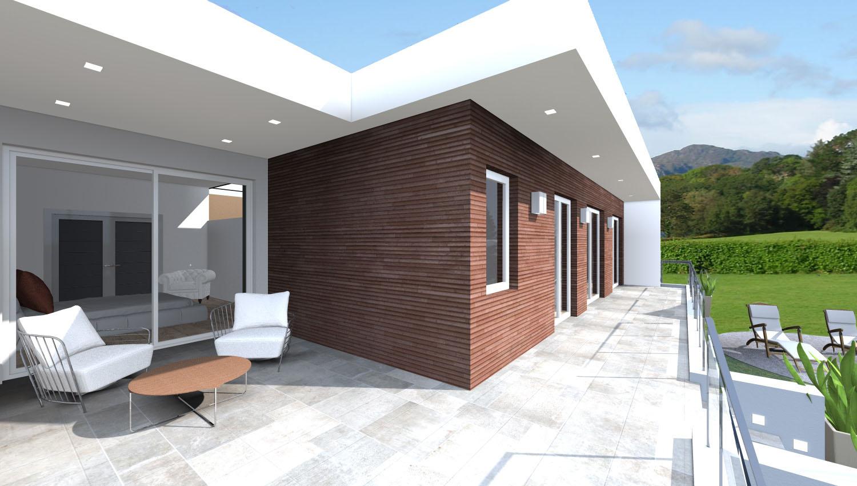 Progetti 3d costruzione esempi di progetti online di for Casa moderna pianta