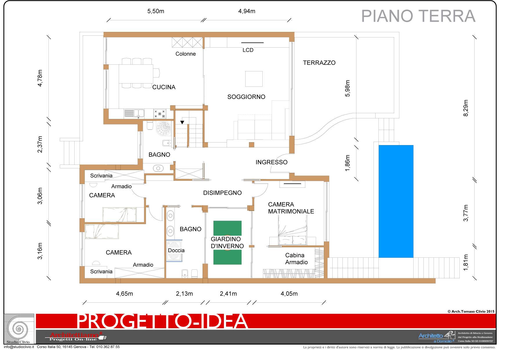 Villa in sardegna esempio di progetto di nuova for Progetto del piano di costruzione