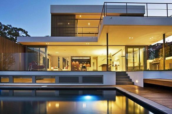 Case Moderne Con Piscina : Immagini d ispirazione di ville case e rustici di tutto il mondo