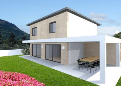 villa moderna giardino