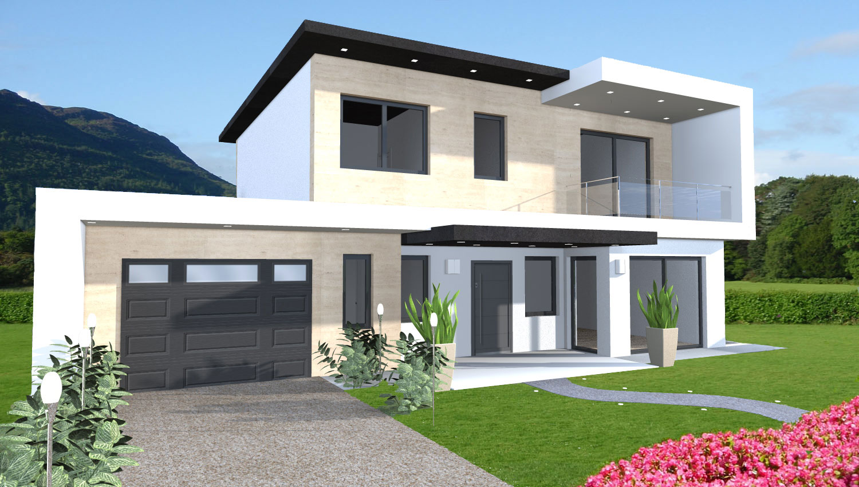 Esempi di progetti 3d di costruzione progetti online for Piani casa moderna collina