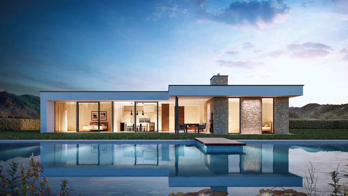 esempio di casa disposta su singolo piano