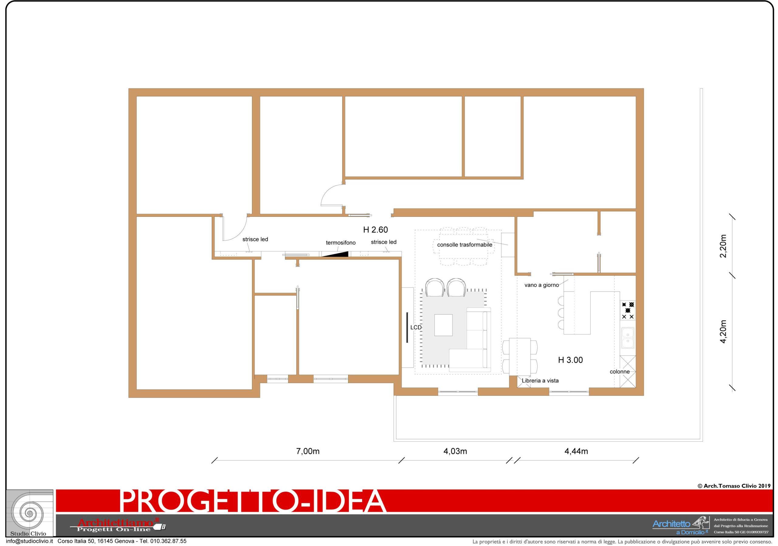 Progetto Idea Open Space moderno
