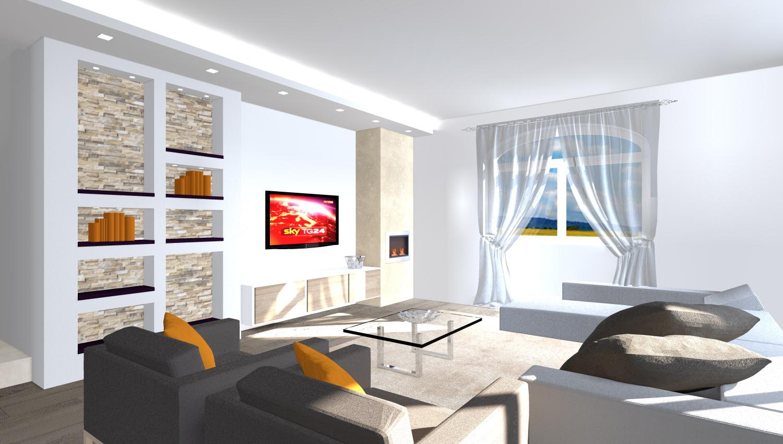 Restyling appartamento zona giorno
